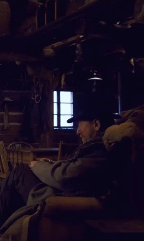 Tim Roth with UGG Australia Gallion Leather Pull-On Ankle Boots in The Hateful Eight