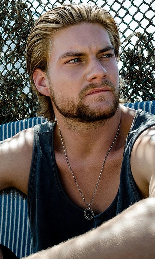 Jake Weary with Get Back Supply Co. St. Christopher Surf Necklace in Animal Kingdom