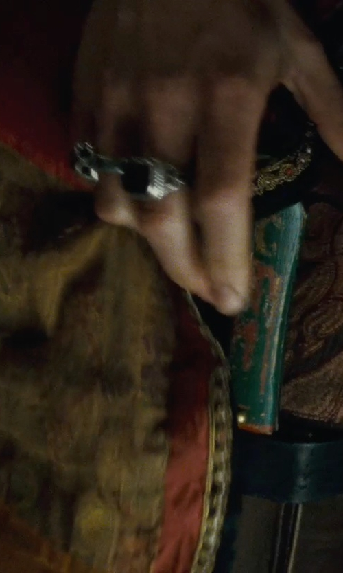 Noomi Rapace with John Hardy Naga Square Stone Ring in Sherlock Holmes: A Game of Shadows