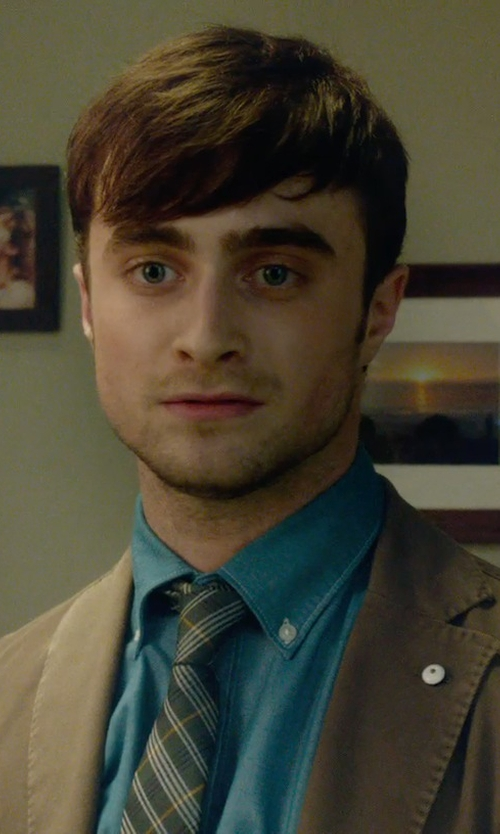 Daniel Radcliffe with Ed Garments Men's Long Sleeve Button Down Poplin Shirt in What If