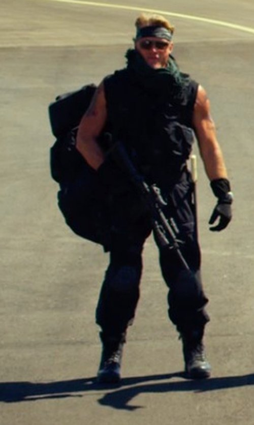 Dolph Lundgren with Frye Men's Rand Lace Boot in The Expendables 3
