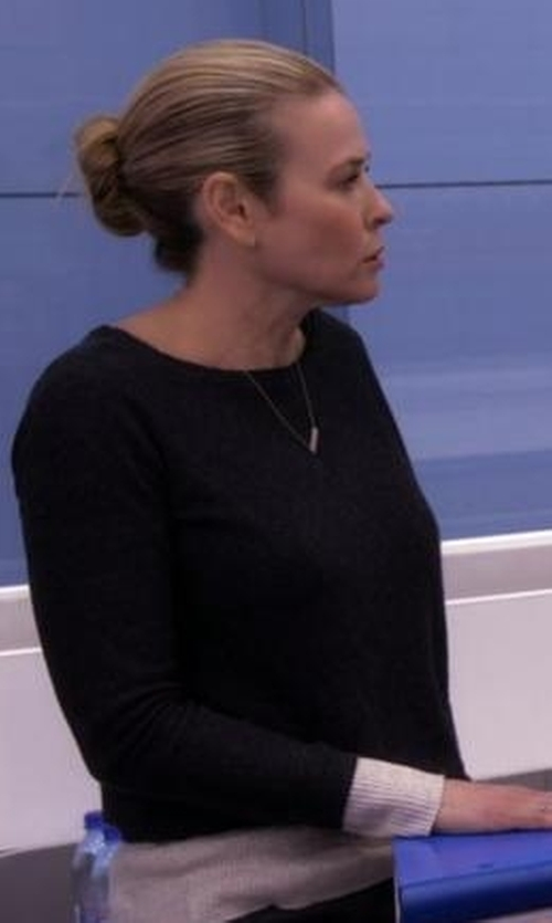 Chelsea Handler with Obey Undercover Crew Neck Sweater in Chelsea