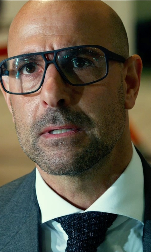 Stanley Tucci with JOSEPH ABBOUD Classic Fit Wool Suit in Transformers: Age of Extinction