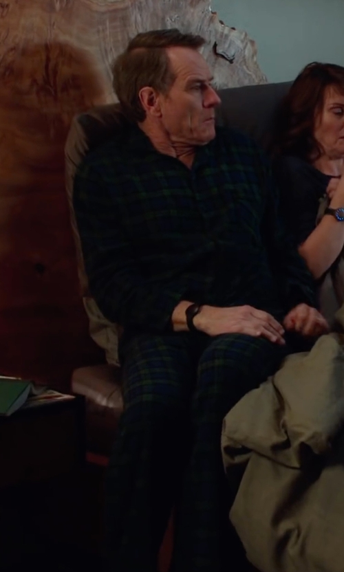 Bryan Cranston with Club Room Men's Check Shirt and Pants Pajama Set in Why Him?