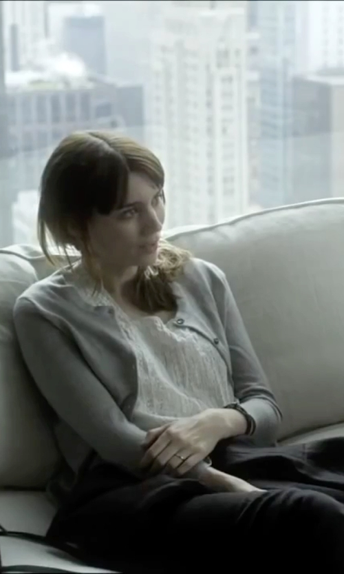 Rooney Mara with Johnny Was Crochet Tank Top in Side Effects