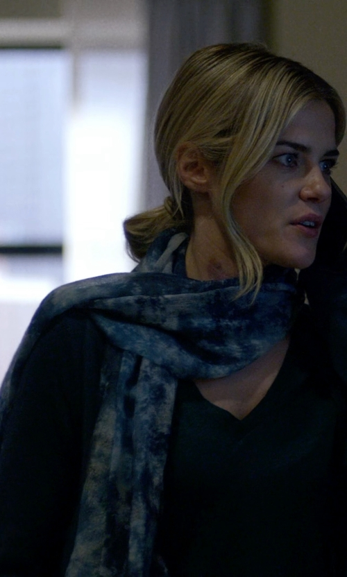 Rachael Taylor with Maya Printed Wool Scarf in Jessica Jones