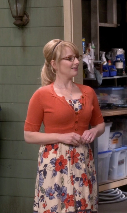Melissa Rauch with Le3no Cropped Cardigan in The Big Bang Theory