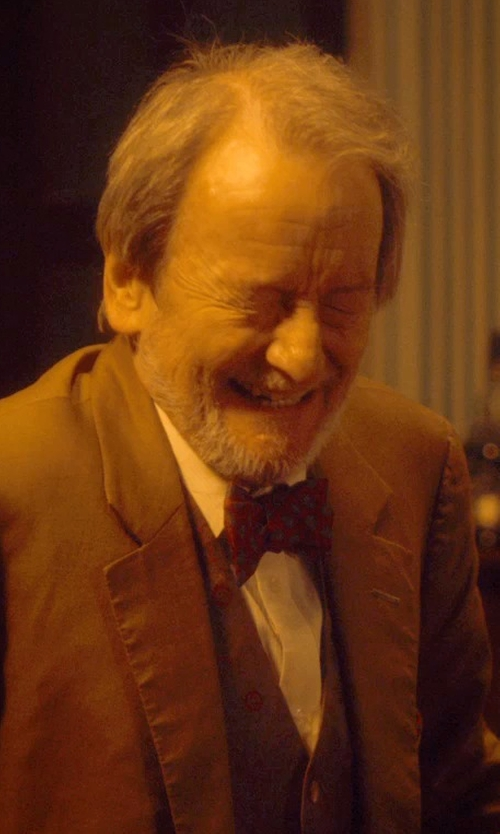 Ronald Pickup with Z Zegna Solid Dress Shirt in The Second Best Exotic Marigold Hotel