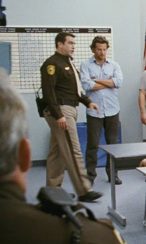 Rob Riggle with Horace Small Virginia Sheriff Trousers in The Hangover
