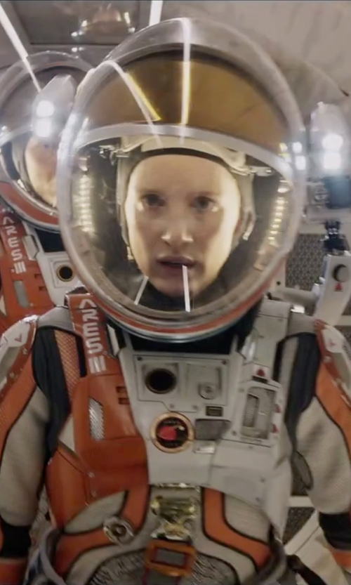 Jessica Chastain with Janty Yates (Costume Designer) Custom Made Astronaut Suit (Melissa) in The Martian