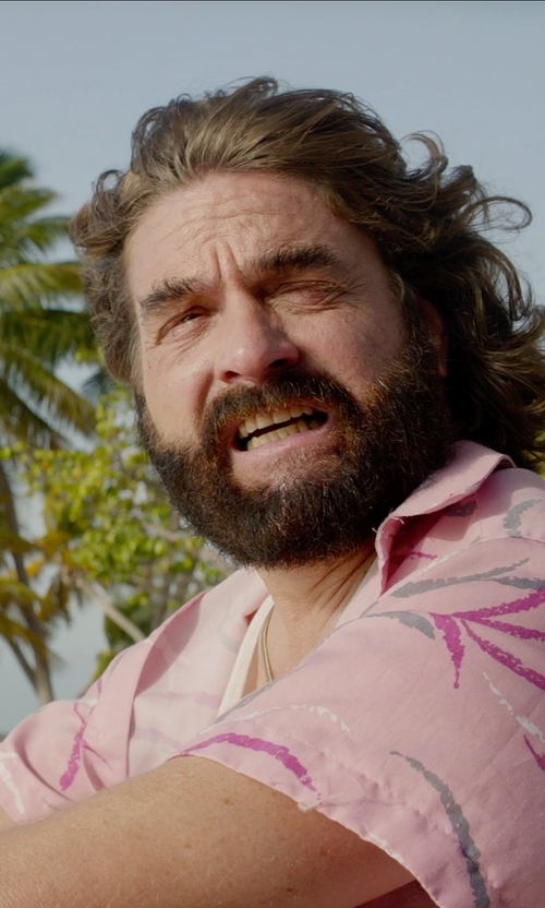 Zach Galifianakis with Alohawears Clothing Company Flamingo Island Hawaiian Aloha Shirt in Masterminds