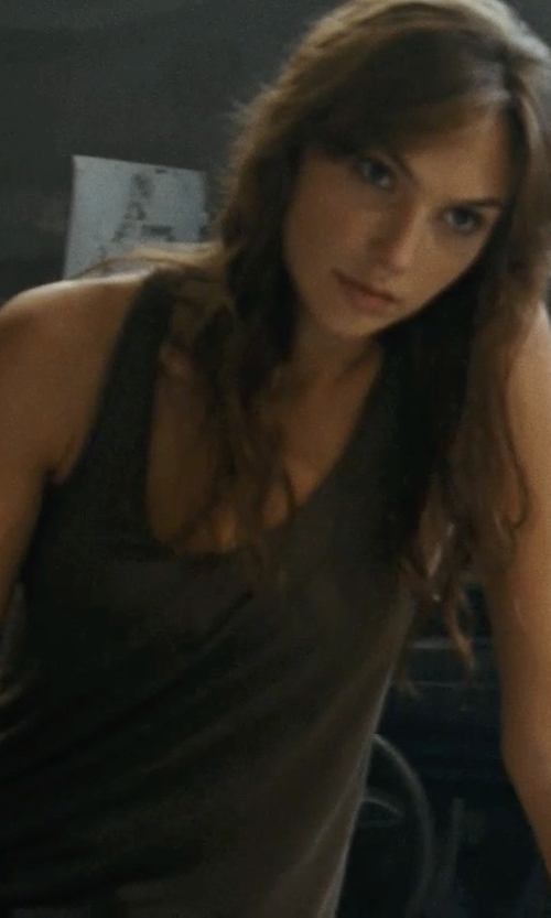 Gal Gadot with Issey Miyake Tank Top in Fast Five