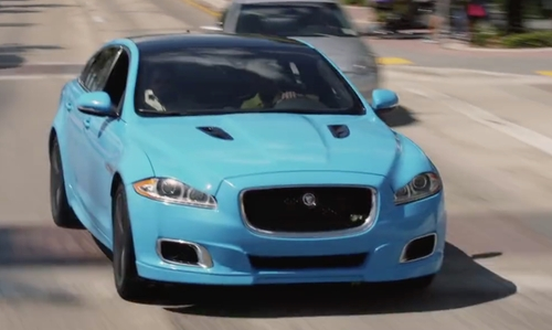 Kevin Hart with Jaguar XJR Sedan in Ride Along 2