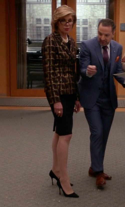 Christine Baranski with Tamara Mellon Vertigo Pumps in The Good Wife