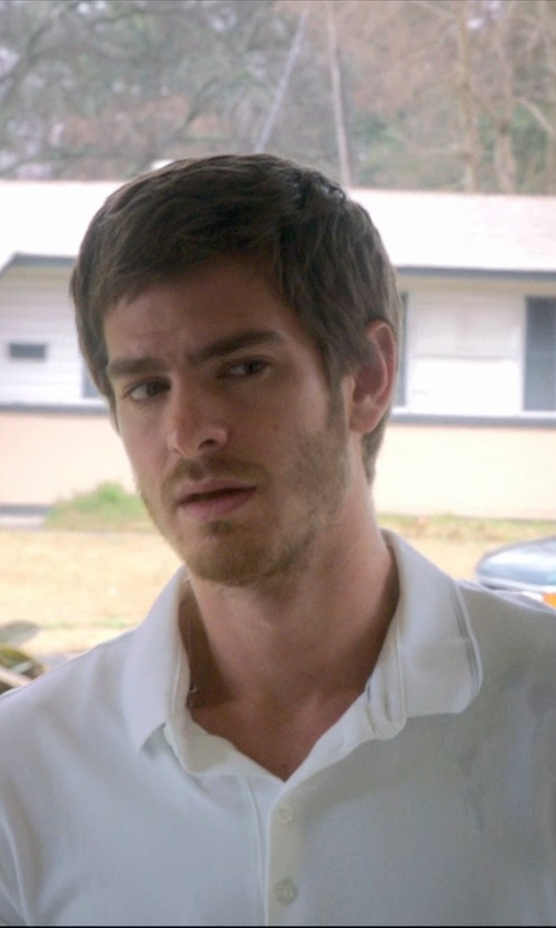 Andrew Garfield with Rag & Bone Regular Fit Slub Cotton Polo Shirt in 99 Homes