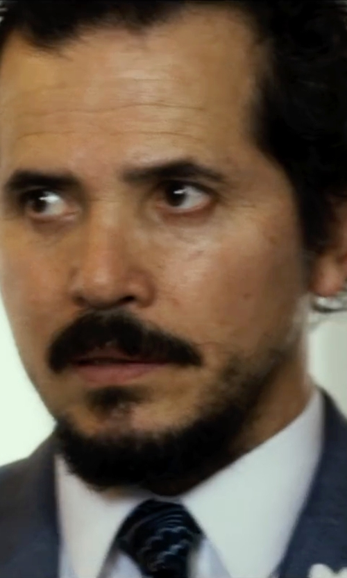 John Leguizamo with Ralph Lauren Black Label Fine-Striped Peau De Soie Necktie in The Infiltrator