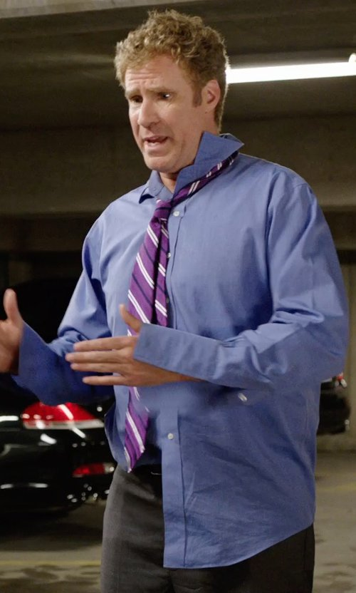 Will Ferrell with Polo Ralph Lauren Poplin Solid Dress Shirt in Get Hard