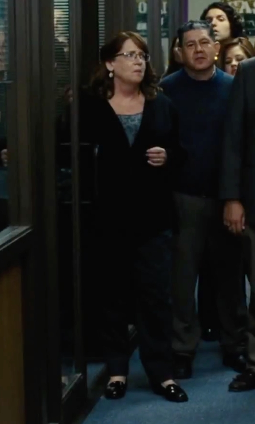 Ann Dowd with Calvin Klein 'Celia' Penny Loafer in Our Brand Is Crisis