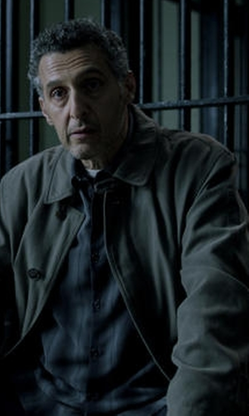John Turturro with Tommy Hilfiger Single-Breasted Leone Rain Coat in The Night Of