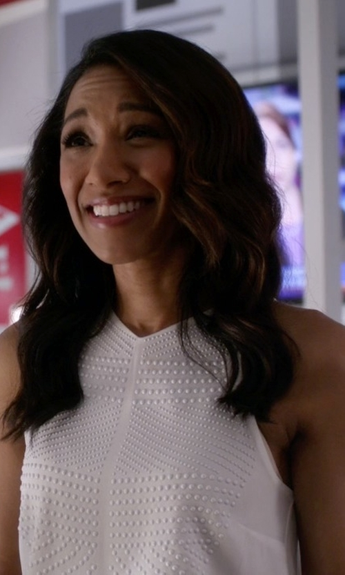 Candice Patton with A.L.C. Brenner Top in The Flash