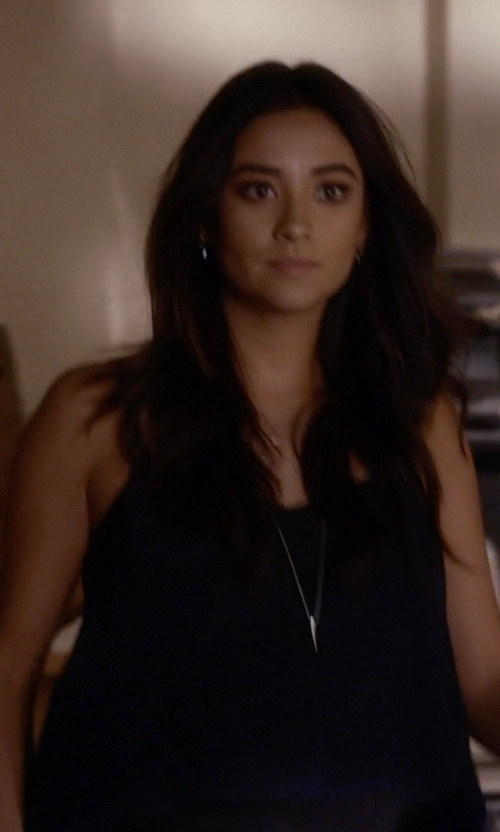 Shay Mitchell with Joie Setta Racerback Tank Top in Pretty Little Liars