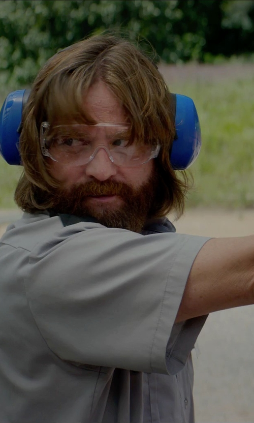 Zach Galifianakis with MSA Safety Works Over Economical Safety Glasses in Masterminds