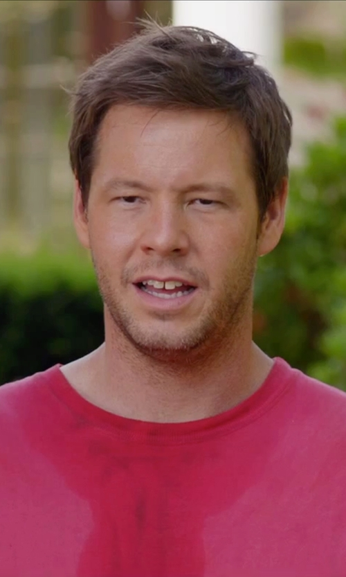 Ike Barinholtz with Calvin Klein Short Sleeve Logo Crew Neck T-Shirt in Sisters
