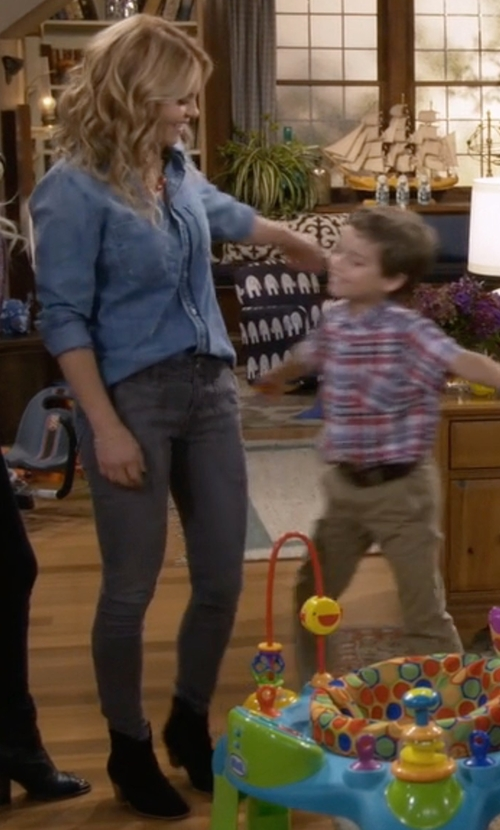 Candace Cameron Bure with Steve Madden Hipster Bootie in Fuller House