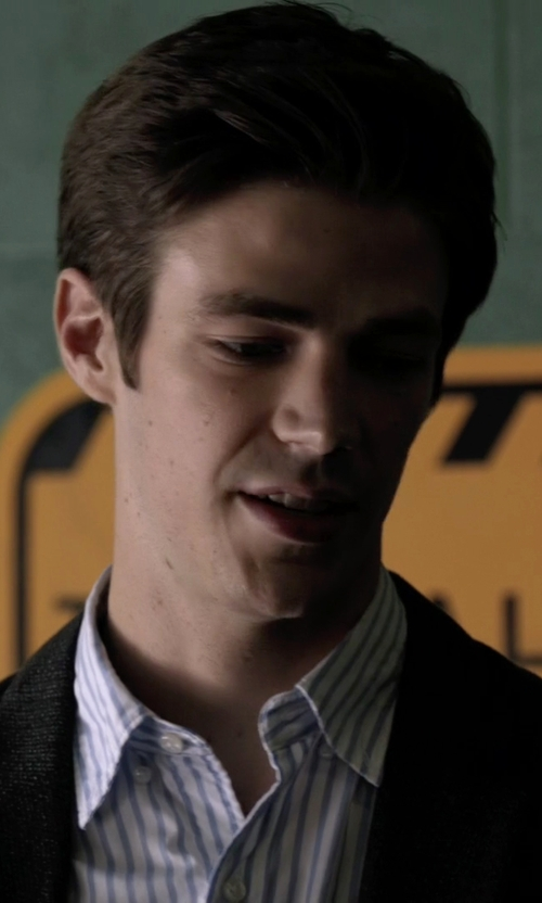 Grant Gustin with Robert Graham Barrow Long Sleeve Woven Shirt in The Flash