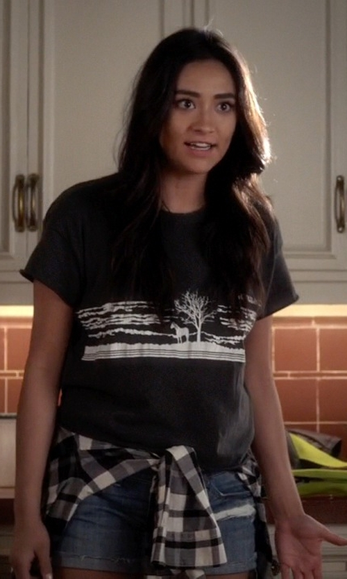 Shay Mitchell with The Great The Old West Tee in Pretty Little Liars