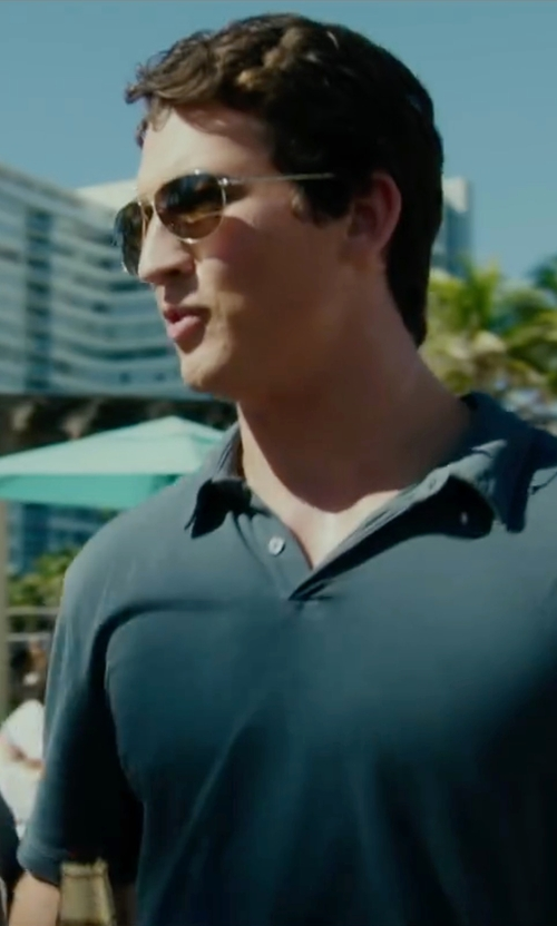 Miles Teller with Ray-Ban Aviator Sunglasses in War Dogs