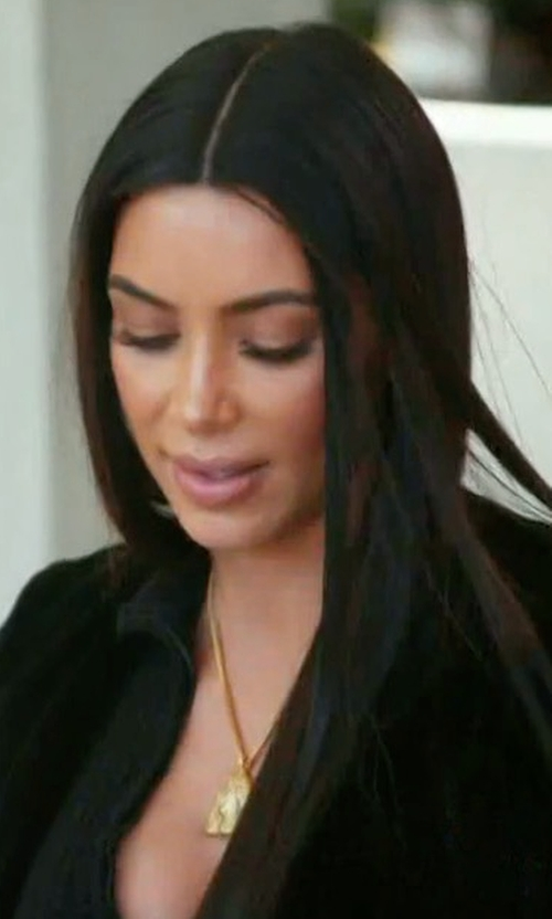 Kim Kardashian West with Yeezy Yeezy Necklace in Keeping Up With The Kardashians