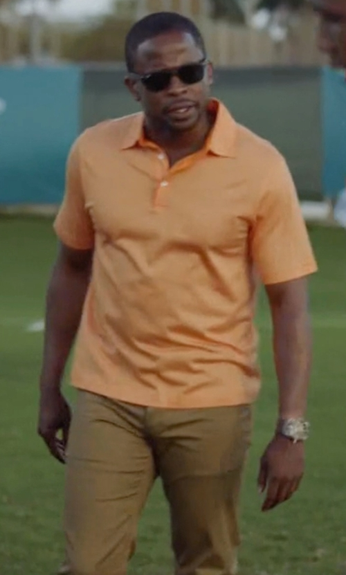 Dulé Hill with Brooks Brothers Golden Fleece Performance Polo Shirt in Ballers