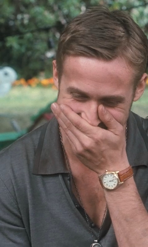 Ryan Gosling with Rolex Vintage 1946 Bubbleback Oyster Perpetual Chronometer Gold Watch in Crazy, Stupid, Love.