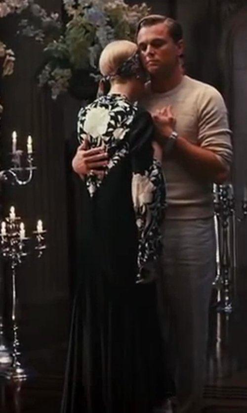 Carey Mulligan with Roberto Cavalli Printed Maxi Caftan Dress in The Great Gatsby