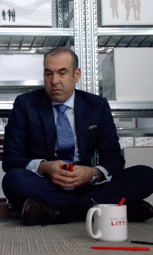 Rick Hoffman with Magnanni Terque Oxford Shoes in Suits