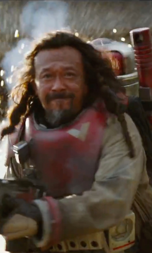 Jiang Wen with David Crossman	and Glyn Dillon (Costume Designers) Custom Made Coverall in Rogue One: A Star Wars Story