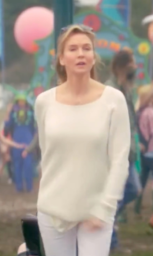Renée Zellweger with American Vintage Owatonna Open-Knit Sweater in Bridget Jones's Baby
