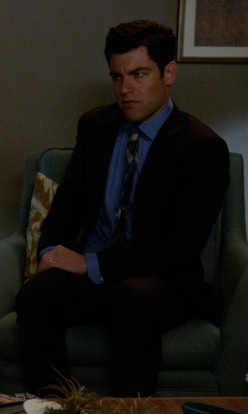 Max Greenfield with Bikkembergs Lapel Collar Suit in New Girl