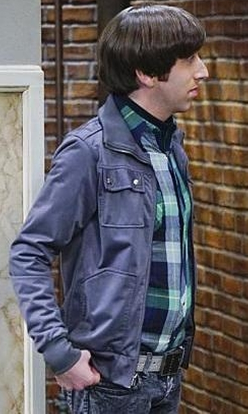 Simon Helberg with XRay Slim Faux-Leather Motorcycle Jacket in The Big Bang Theory