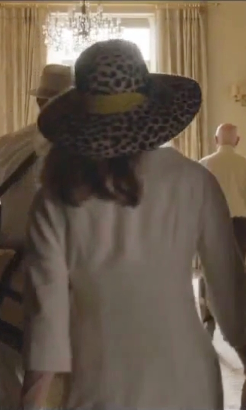 Angelina Jolie with Borsalino Leopard Rabbit Fur Melusine Felt Hat in By the Sea