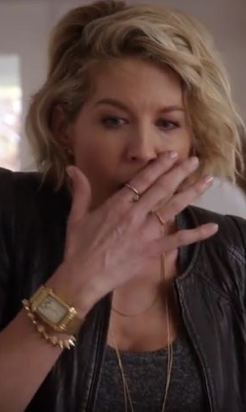 Jenna Elfman with Anne Klein Women's Swarovski Crystal-Accented Rectangular Watch in Imaginary Mary