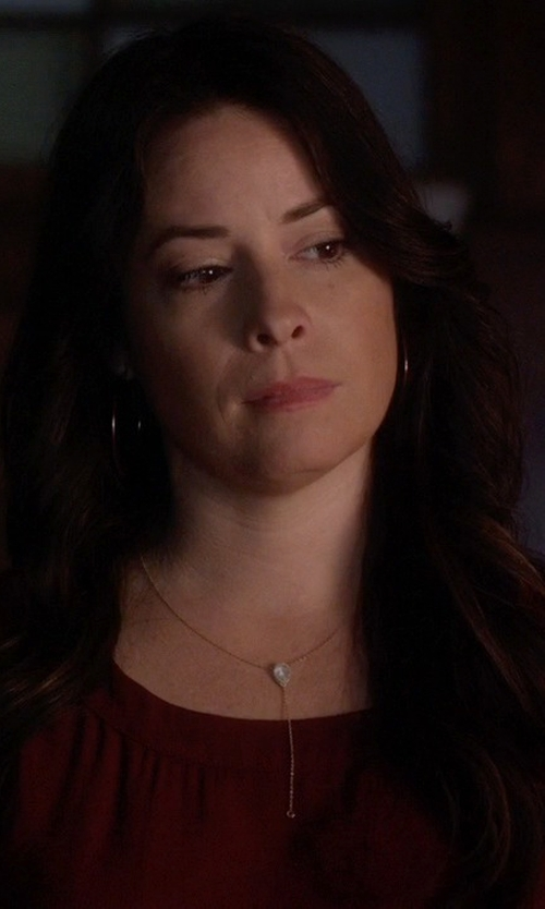 Holly Marie Combs with Azaara Extra Fabulously Large Hoop Earrings in Pretty Little Liars
