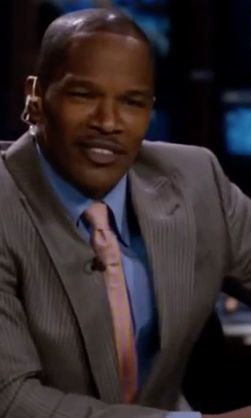 Jamie Foxx with Burberry London Solid Silk Tie in Valentine's Day
