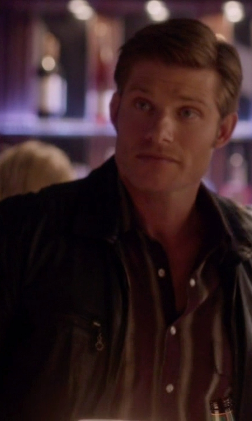 Chris Carmack with Kohls Chaps Leather Jacket in Nashville