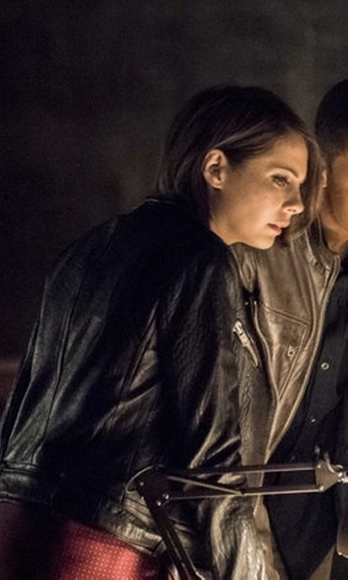 Willa Holland with Mackage Rumer Leather Jacket in Arrow