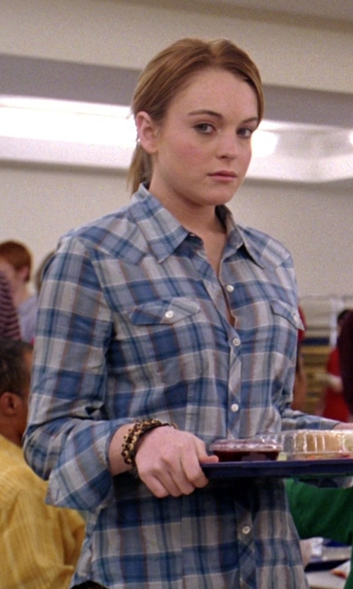 Lindsay Lohan with Rails Hunter Long-Sleeve Plaid Shirt in Mean Girls