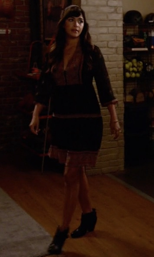 Hannah Simone with Rag & Bone Harrow Leather Boots in New Girl