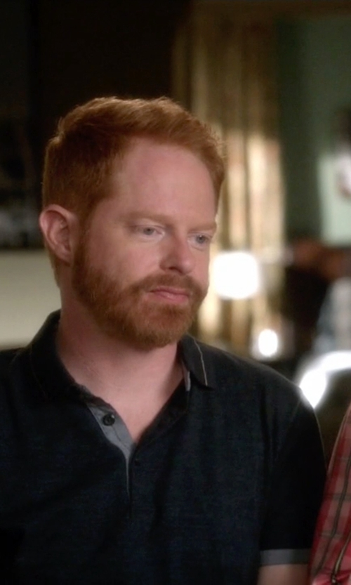 Jesse Tyler Ferguson with Alfani Short Sleeve Edgar Polo Shirt in Modern Family
