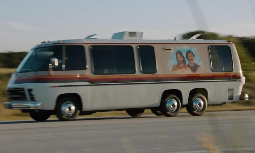 Will Ferrell with GMC Motorhome in Anchorman 2: The Legend Continues